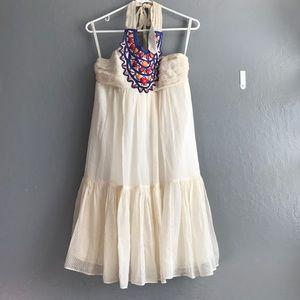 Shoshanna tiered beaded vacation Dress | sz 8